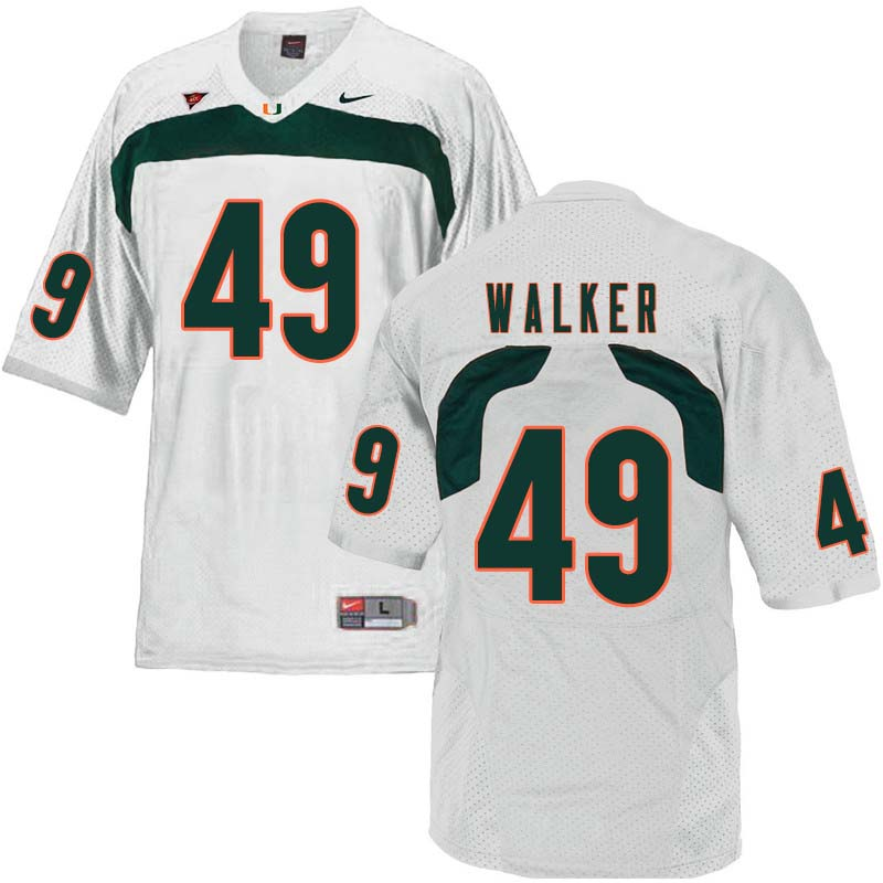 Nike Miami Hurricanes #49 Shawn Walker College Football Jerseys Sale-White